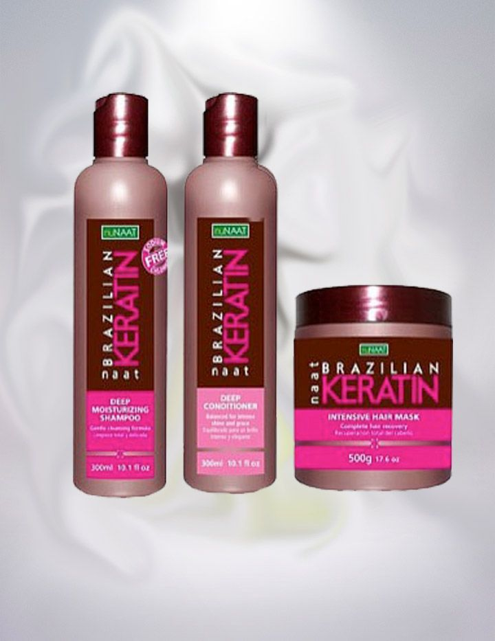 *OFERTA* Pack Shampoo, Acondicionador y Mascarilla Brazilian Keratin Nunaat