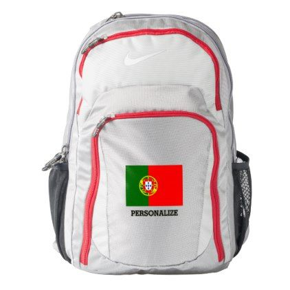 Portugal flag Portuguese pride personalized Nike Backpack - boy gifts gift ideas diy unique