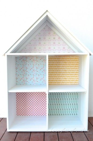 Sweet doll's house makeover by A house full of sunshine for Practically Functional