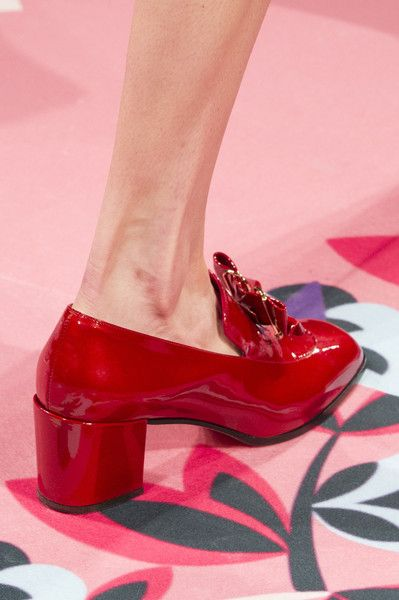 Vivetta at Milan Fashion Week Fall 2017 - Loving red patent leather shoes