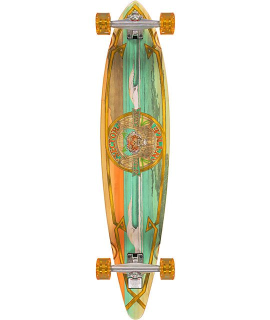 "Get around on a renewable ride with the Sector 9 G-Land 44"" Bamboo longboard complete. Assembled and ready to shred this Sector 9 directional longboard has slight concave with a camber kick tail mold and everything you need for a fun day for skating aroun"