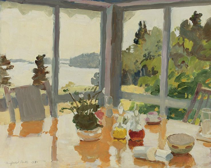 Fairfield Porter The table on the porch