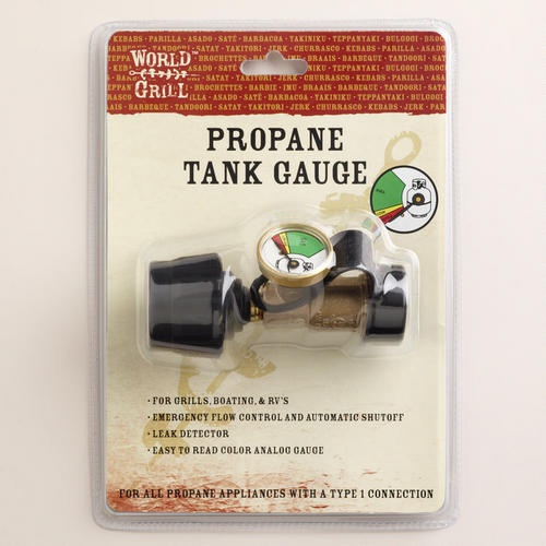 For the outdoor kitchen!    One of my favorite discoveries at WorldMarket.com: Propane Tank Gauge