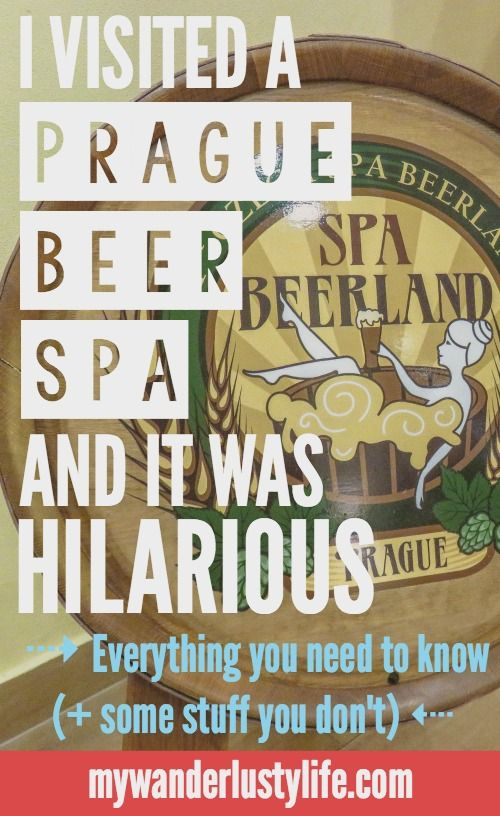 Visiting a Prague Beer Spa -- everything you need to know plus some stuff you don't on visiting these unique spas in the Czech Republic | Don't forget to REPIN for your friends. :)