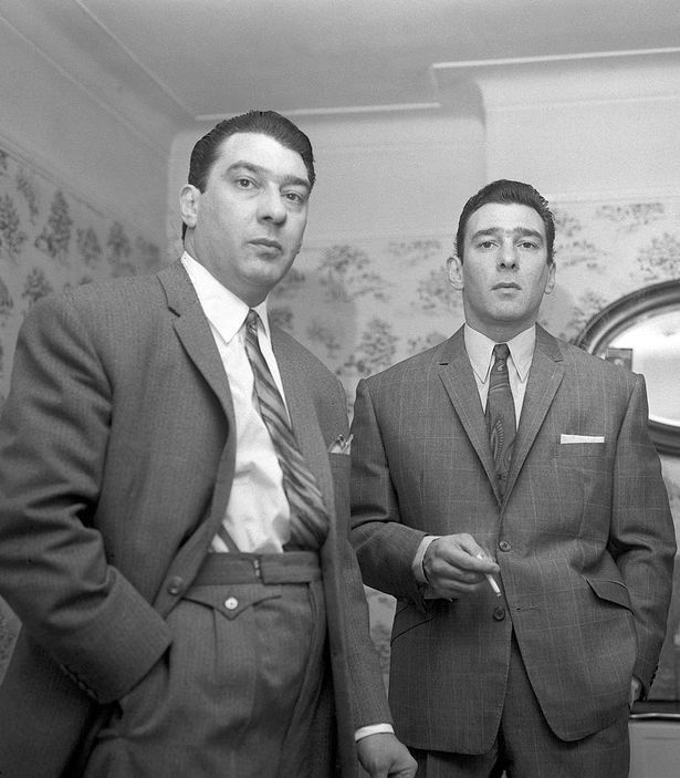 Ronnie and Reggie Kray at home in London 1966