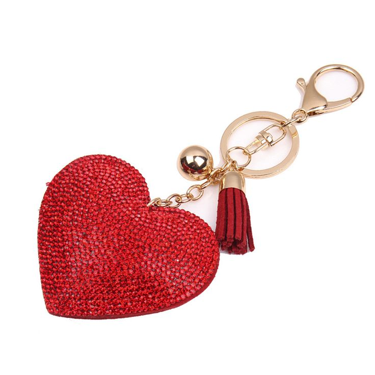 Starry-Styling Fashion Love Rhinestone Tassel Keychain FOR Bag Handbag Key Ring Car Key Pendant Delicate 2017 //Price: $US $1.78 & FREE Shipping //     #hashtag4
