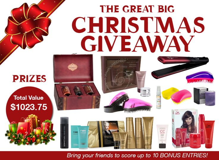 It's the BIG one! Our Great BIG Christmas GIVEAWAY! Enter for your chance to WIN 1 of 3 prize packs with a total value $1023.75!