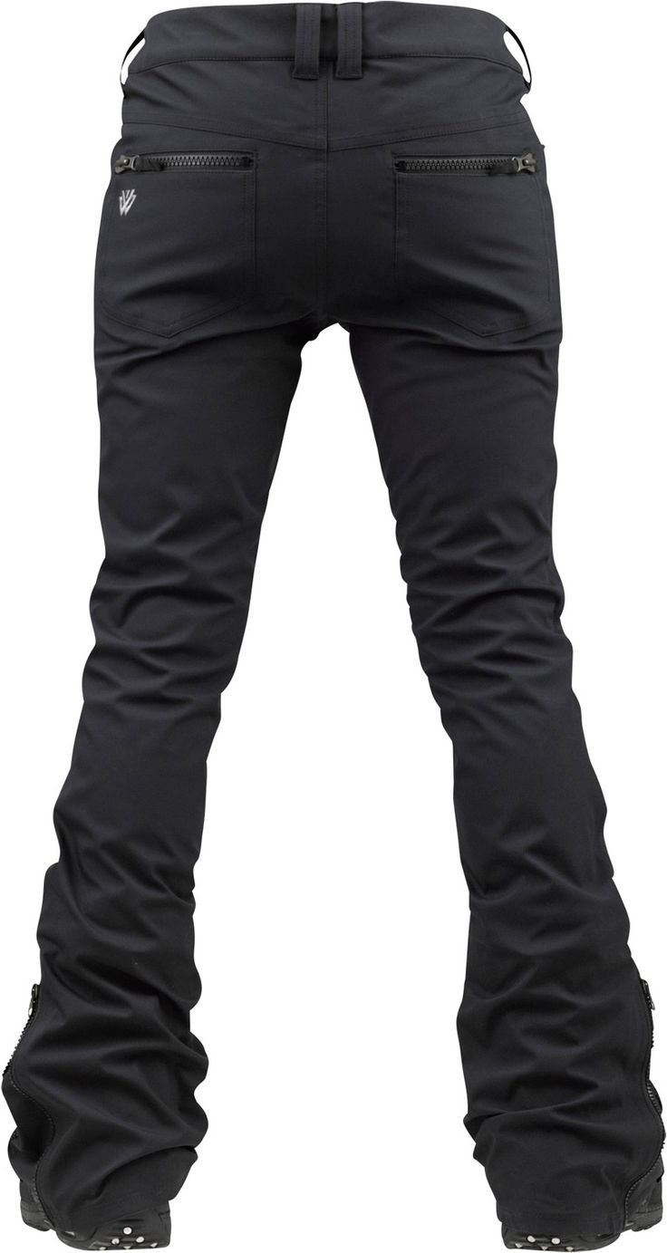 Burton TWC Sugartown Snowboard Pants True Black - Women's skinny snow pants are so freakin cool