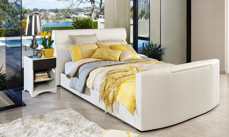 Tango White - Upholstered King Size Bed | Bedshed