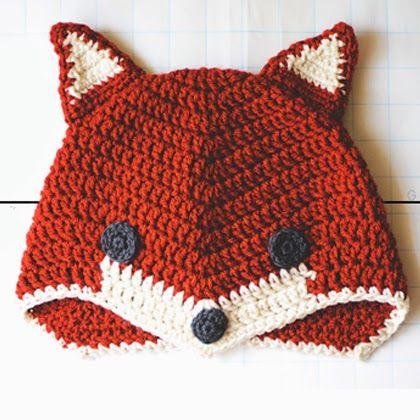 Patrón Fox sombrero libre de ganchillo