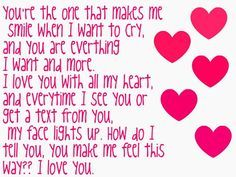 I Love My Boyfriend saying | You're The One