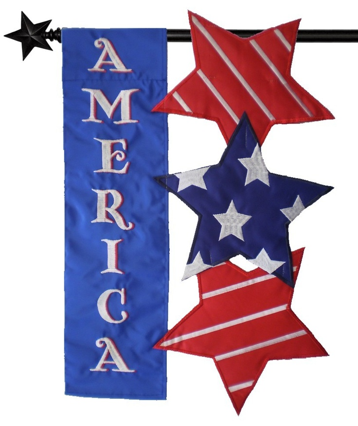 images about 4th of July House flags and Garden flags on