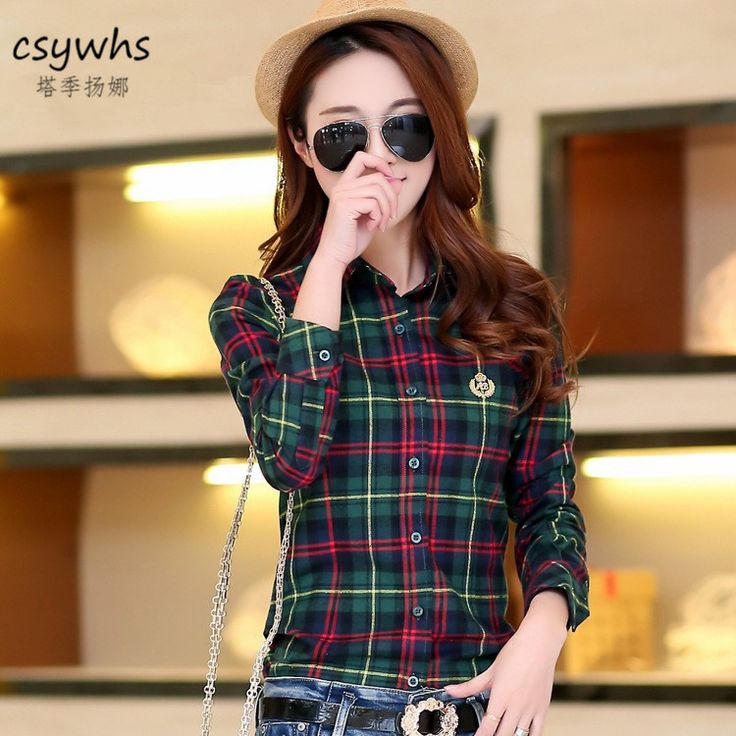 >> Click to Buy << 2017 Spring New Arrival Plaid Shirt Women Casual Cotton Long Sleeve Blouses Shirts Clothing Girl College Style #Affiliate