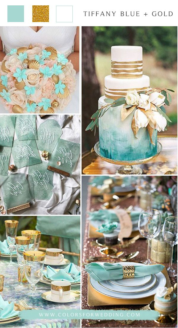 Top 6 Summer Wedding Color Schemes In 2020 Tiffany Blue Wedding Theme Beach Wedding Colors Schemes Blue Themed Wedding