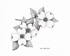 dogwood flower tattoo - Google Search