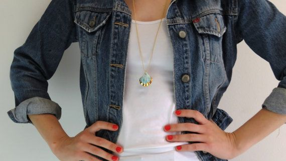 porcelain jewelry beach necklace mermaid necklace porcelain