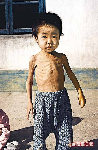 North Korea, 1995: One of the few pictures that exist showing how poor a (great) part of Noth Korea is.