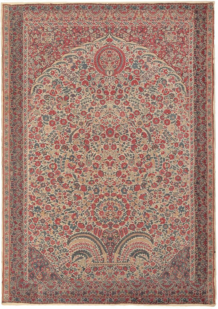 Antique Kashmir Millefleurs Twill Tapestry Century Finely Woven Tapestries Of This Kind Are Modeled On The Pashmina Wool Or