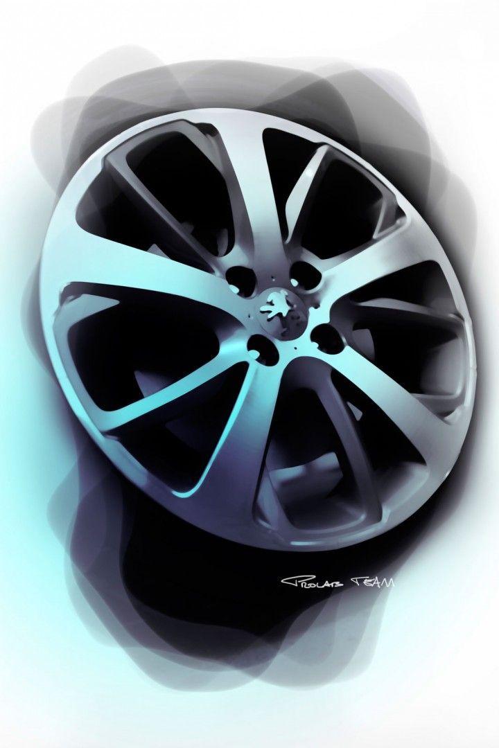 Peugeot 208 - Wheel Design Sketch | Sketch