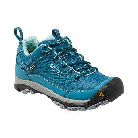 A fast, flexible hiking shoe in waterproof mesh—exactly what you want when the weather's iffy.