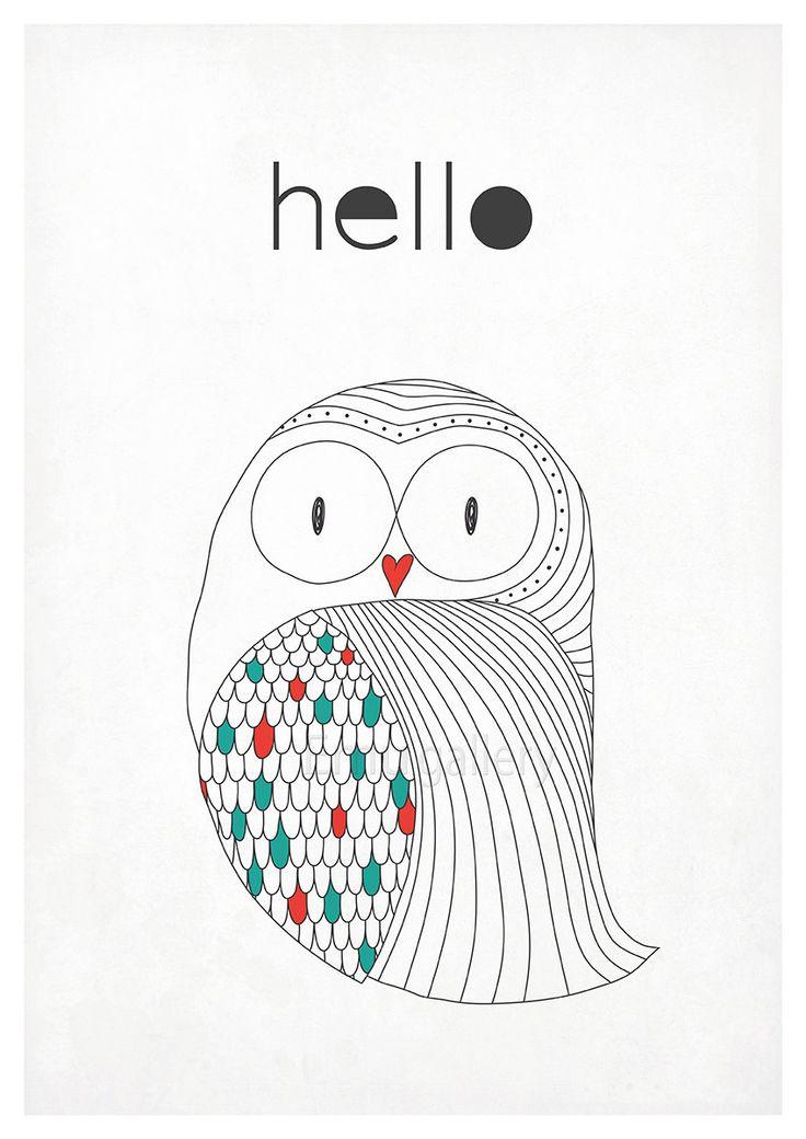 Affiche rétro au design nordique simple de style par EmuDesigns
