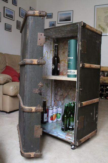 Transformer une ancienne malle en bar! Tuto DIY