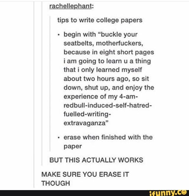 Write college papers