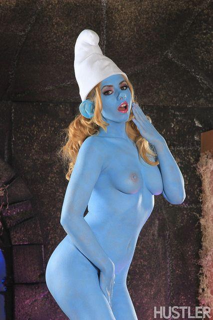 body paint smurf sex