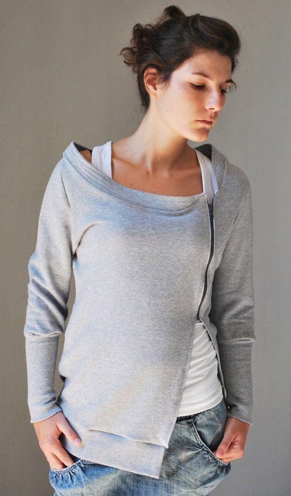 Sudadera gris SUN chaqueta de las mujeres / de por kupukupuapparel