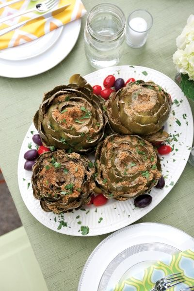 Baked Artichokes Recipe — Dishmaps
