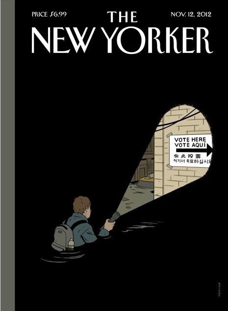 The New Yorker (Nov. 12, 2012) / cover by Adrian Tomine