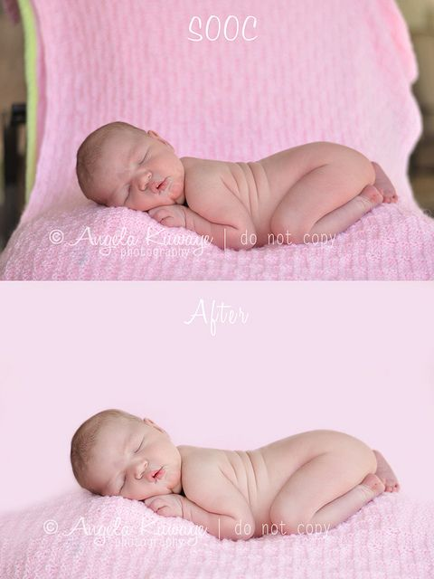 Newborn Photo edit background: The background effect was done using the brush tool on soft and masking out the baby.  on a seperate layer I used the brush tool to color the background which colored over the outer edges of the baby. I then added a mask which allowed me to remove the brush on the baby as I desired.