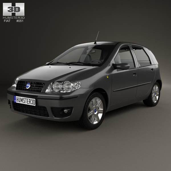Fiat Punto 5-door 2003 3d model from humster3d.com. Price: $75