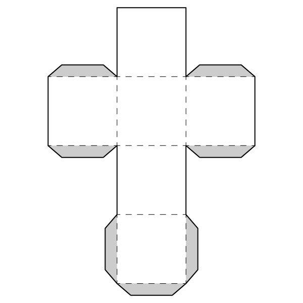cube 3d shape templates printable – Cube Worksheet