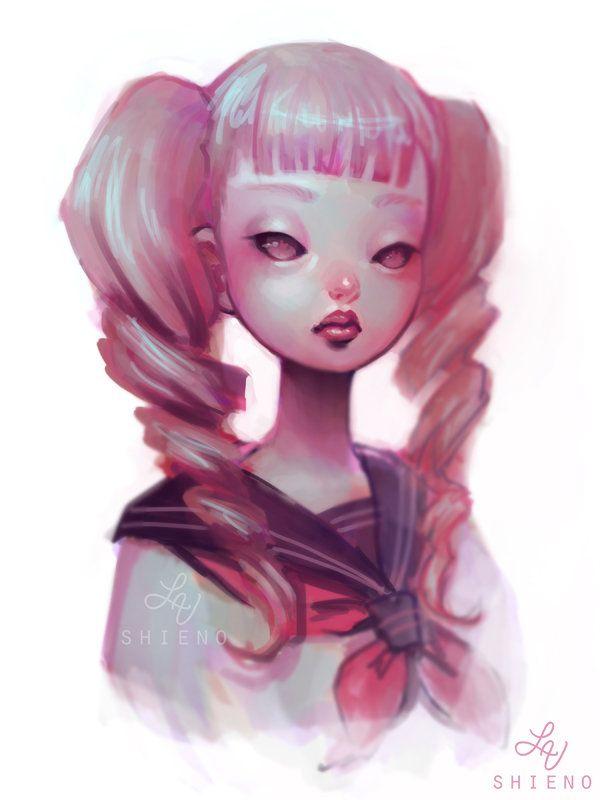 Pink Ponytails by Huyen-n00b.deviantart.com on @DeviantArt