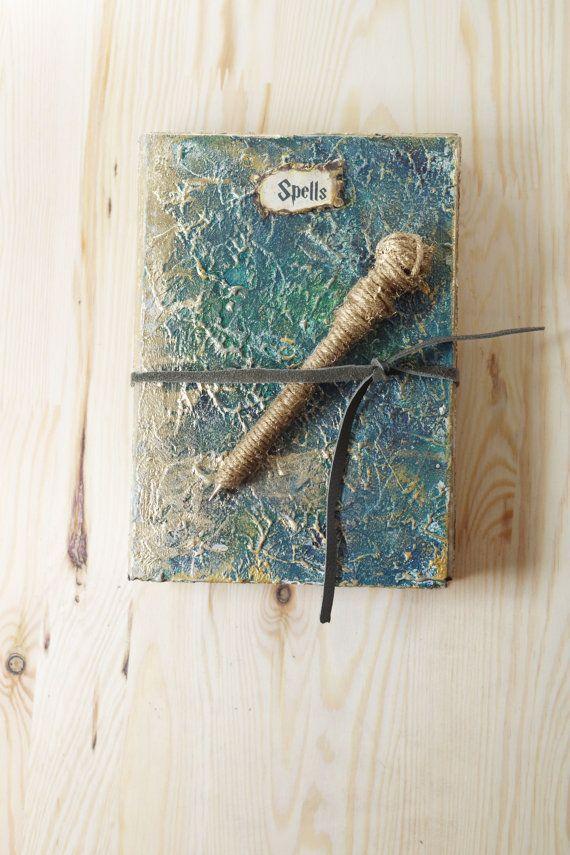 Handpainted Magic Journal Spell Book Spells Harry by CraftPointPL