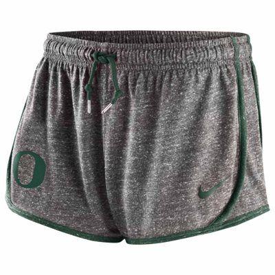 Nike Oregon Ducks Ladies Tailgate Tempo Shorts - Ash
