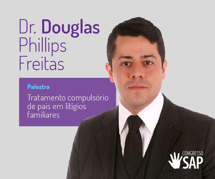Dr. Douglas Phillips Freitas (SC) – Advogado. Doutorando em Direito. Ex-Presidente do IBDFAM/SC. Professor da AASP – Associação dos Advogados de São Paulo, ESA-OAB/SC e RS e das pós-graduações da UNIDAVI, UNOESC, entre outras. Conferencista e consultor.  O Congresso SAP será uma oportunidade importante para divulgar, refletir e discutir sobre tratamento compulsório de pais em litígios familiares.  Garanta seu ingresso no site! ~> http://evento.congressosap.com.br/