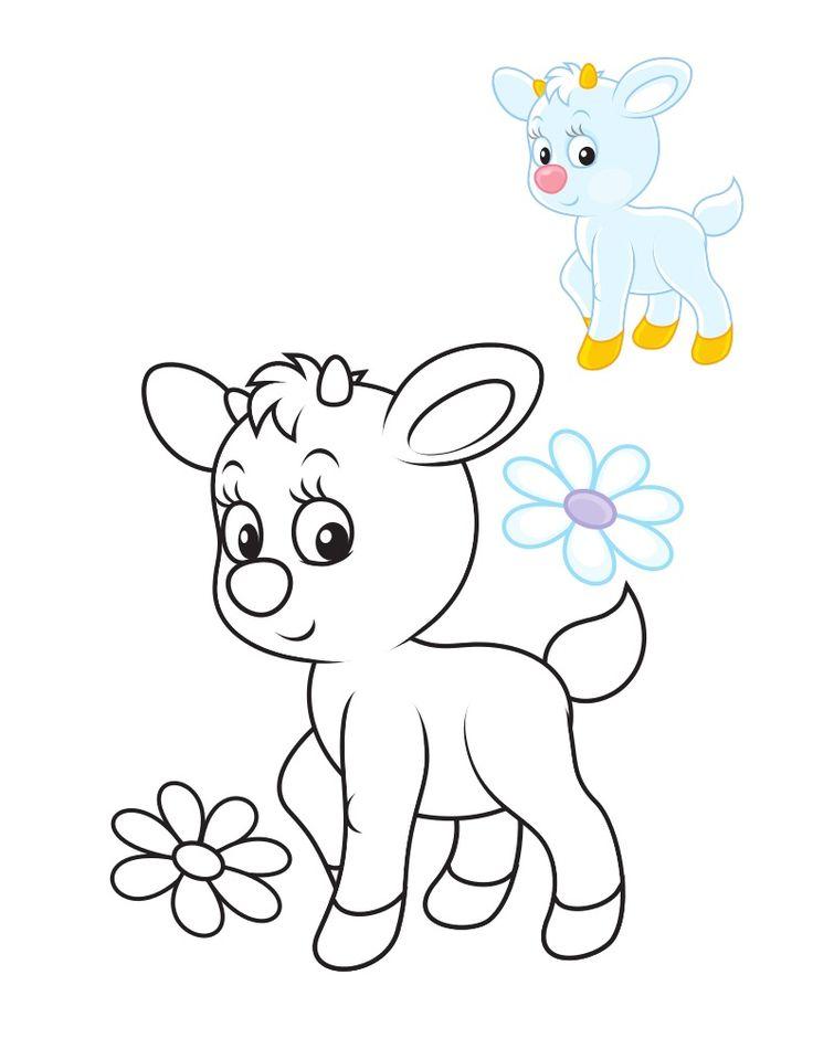 Козлик картинка для детей раскраска