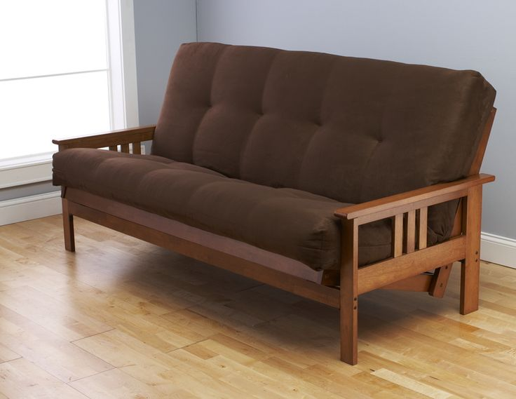 Monterey Barbados Futon In Suede Chocolate By Kodiak