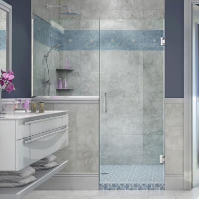 DreamLine Unidoor Plus 59 in. to 59-1/2 in. x 72 in. Frameless Pivot Shower Door…