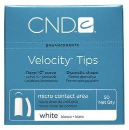 """Creative Nail Tips Velocity False Nails, White No.6 by Creative Nail. $4.99. Tips have a very dramatic shape with their heavily definied """"C"""" curve. Featuring an array of color, shape and size options for a custom nail service. Choose between 10 varying sizes, the best match for your fingers. Carefully created using high grade ABS plastic. Featuring an array of color, shape, and size options for a custom nail service to fit every client's need. CND's Velocity Tips have a very..."""