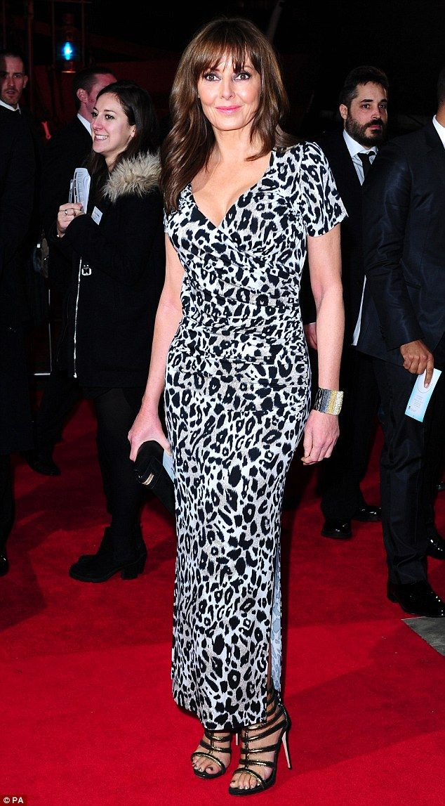 Meow: Carol Voderman arrives to the BAFTA Game Awards in a leopard print dress