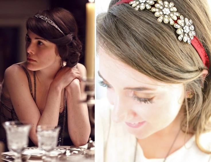 Downton Abby hair jewelry - pretty