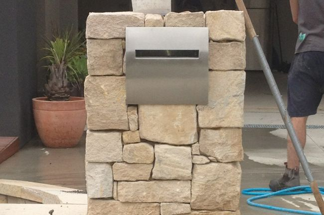 Sandstone Ballast Letterbox Design