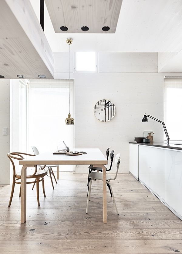 Simple Scandi kitchen featuring design classics by the Finnish architect Alvar Aalto. Shop his range at Utility today: https://www.utilitydesign.co.uk/shop-by-designer/alvar-aalto