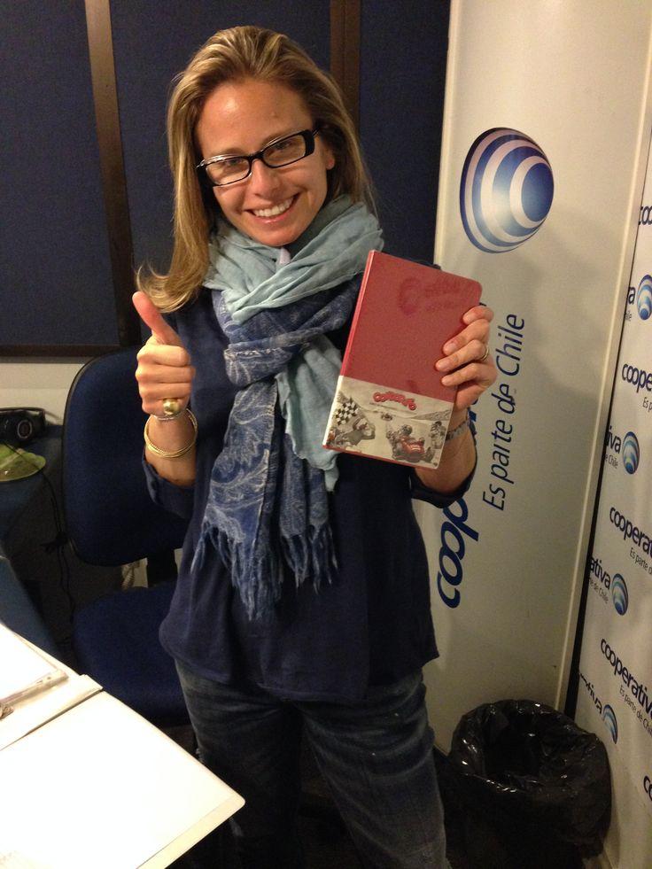 La periodista chilena en su programa de radio #GPS de #Cooperativa nos recibió en su programa.