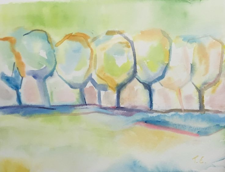Trees of Summer - Watercolor 2015/10