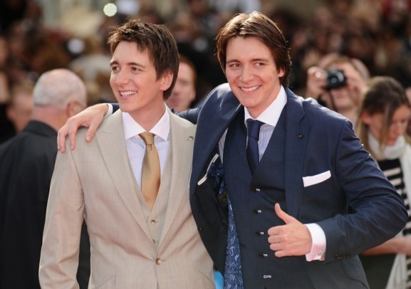 James and Oliver Phelps aka the Weasley twins!