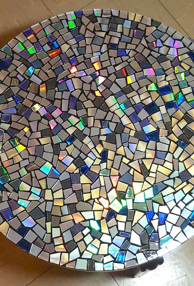 Mosaic application murals application wall panel application kitchen - 12 Genius Ways To Reuse Your Old Useless Cds Mosaic Appold